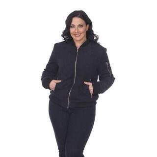 White Mark Women's Plus size Bomber Jacket