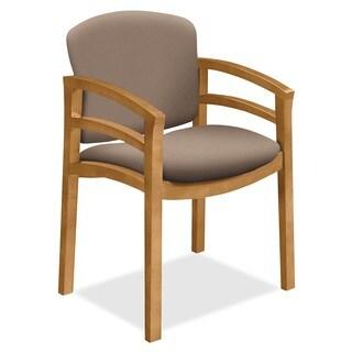 HON 2112 Dble Rail Arms Harvest Wood Guest Chair