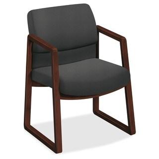 HON 2400 Srs Mocha Hardwood Sled Base Guest Chair
