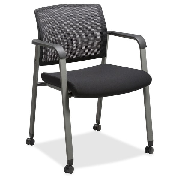 Lorell Mesh Back Guest Chairs With Casters