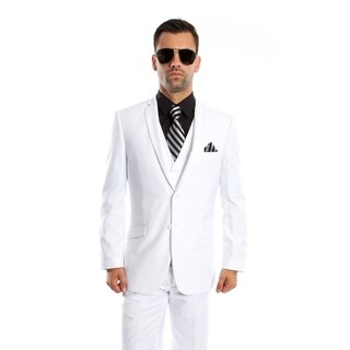 Men's Suit Set 3 Piece Suit Notch Lapel Suit Set