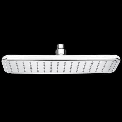 "AKDY SH0020 13"" Rainfall Shower Style Head High Efficiency Rectangle Flat White Water Saving"