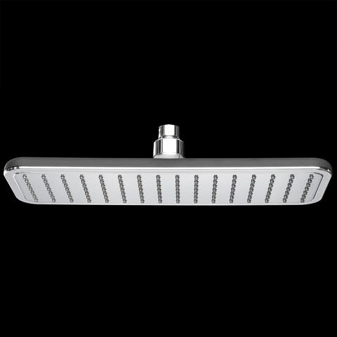 "AKDY SH0021 13"" Rainfall Shower Style Head High Efficiency Rectangle Flat Black Water Saving"