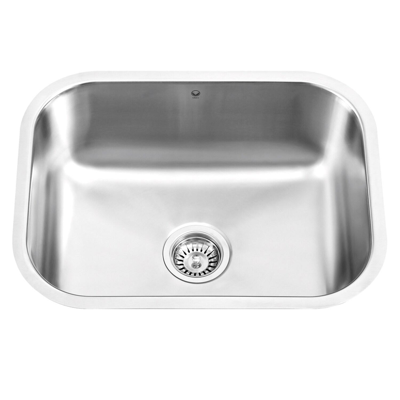 Undermount Kitchen Sink Single Basin Rectangular Stainless Steel ...