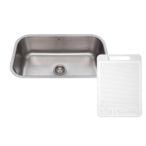 Vigo 30 Inch Undermount Stainless Steel 18 Gauge Single Bowl Kitchen Sink 10313441 Overstock