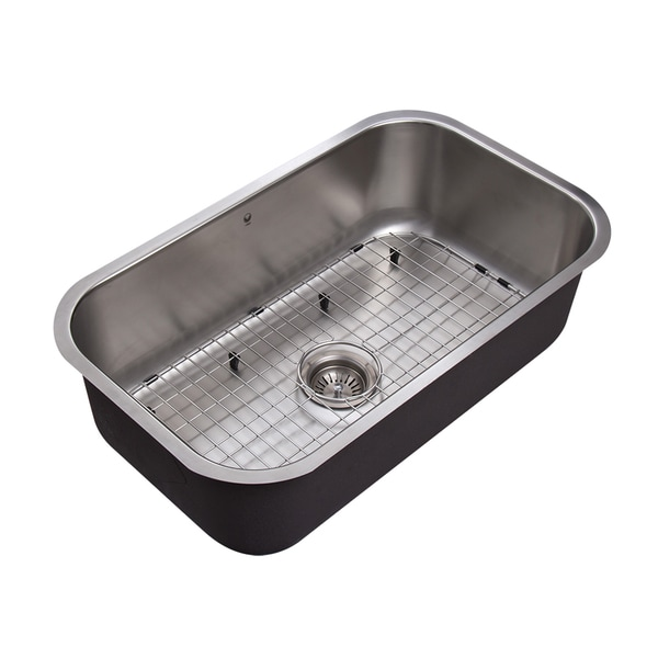 vigo 30 inch undermount stainless steel 18 gauge single bowl kitchen sink. Interior Design Ideas. Home Design Ideas