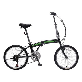 IDS Unyousual U Arc Folding City Bike Bicycle 6 Speed Steel Frame Shimano Gear Wanda Tire, Black