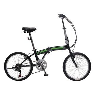 IDS Unyousual U Arc Folding City Bike Bicycle 6 Speed Steel Frame Shimano Gear Wanda Tire, Black