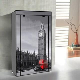 """42"""" Portable Clothes closet Non Woven Canvas Wardrobe Storage Orangizer 5 Shelves - Big Ben"""