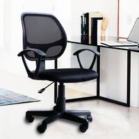 Ergonomic Adjustable Mesh Low-Back Office Task Desk Chair with Arms