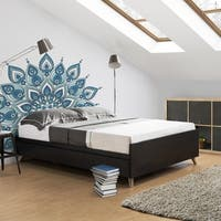 Basil Contemporary Cappuccino 3-drawer Platform Storage Bed