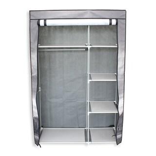 "42"" Portable Clothes closet Non Woven Canvas Wardrobe Storage Orangizer 5 Shelves - Eiffel Tower"