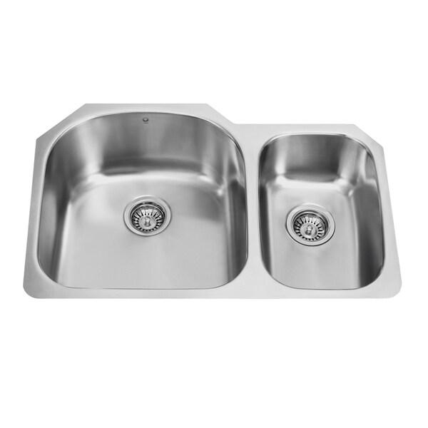 31-inch Undermount Stainless Steel 18 Gauge Double Bowl Kitchen Sink