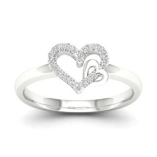 De Couer 10k Gold 1 10ct TDW Diamond Heart Ring