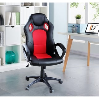 Adjustable Desk Mesh Chair Ergonomic Lumbar Support High Back Computer Swivel Leather Gaming Racing Chair (2 options available)