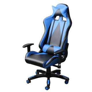 Video Gaming Chair Executive Swivel Racing Style High-Back Office Chair Lumbar Support Ergonomic Wit