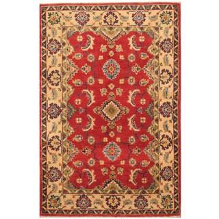 Handmade Herat Oriental Afghan Hand-knotted Kazak Wool Rug (2'8 x 4'2)