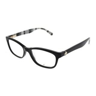 Kate Spade Rectangle KS Brylie QG9 Women Black Print White Frame Eyeglasses