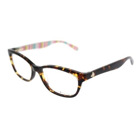 Kate Spade Rectangle KS Brylie RNL Women Havana Pt Multi Frame Eyeglasses