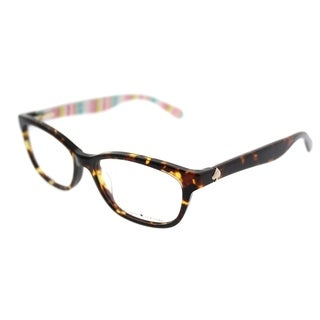 Kate Spade Rectangle KS Brylie RNL Women Havana Pt Multi Frame Eyeglasses