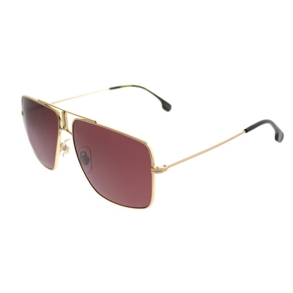 c79b928b3a Carrera Square Carrera 1006 S J5G Unisex Gold Frame Burgundy Polarized Lens  Sunglasses