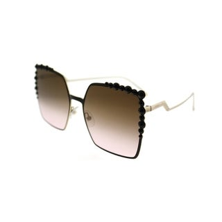 Fendi Square FF 0259 Can Eye 2O5 Women Black Frame Brown Gradient Lens Sunglasses