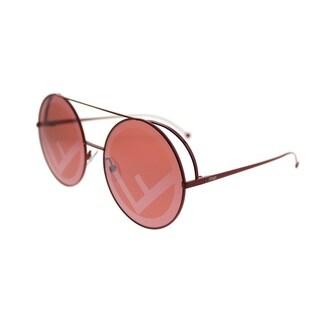 Fendi Round FF 0285 Run Away C9A Women Red Frame Red Lens Sunglasses
