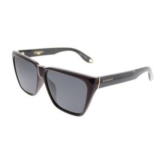 Givenchy Square GV 7002 2SA Unisex Red Black Frame Grey Lens Sunglasses
