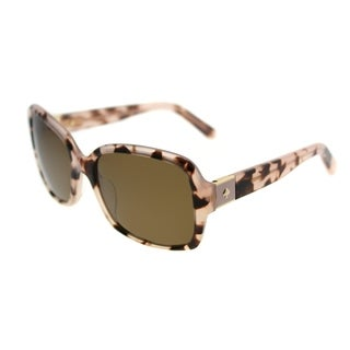 Kate Spade Rectangle KS Annora/P S12 Women Pink Havana Frame Brown Polarized Lens Sunglasses