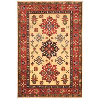 Handmade Kazak Wool Rug (Afghanistan) - 4' x 5'10