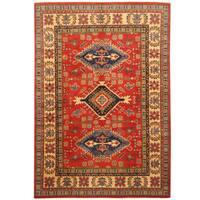 Handmade Herat Oriental Afghan Hand-knotted Kazak Wool Rug (6'3 x 9'1)