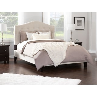 Atlantic Furniture Naples Pebble Beach Upholstered Wood Frame Queen Platform Bed