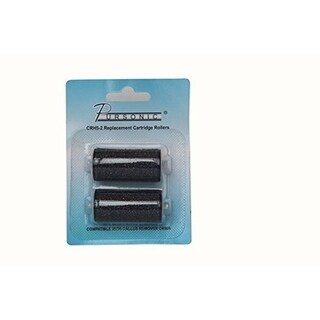 Pursonic CHR-2 Rollers Refill Heads for Pursonic CR500 Foot File (2 pack - Black