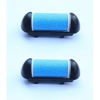 Pursonic CRH-2 Replacement Rollers for the CR360 Callus Remover, Black, 2 pack - Blue