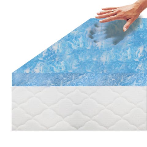 Touch of Comfort 2.5-Inch Gel Memory Foam Mattress Topper with Air Channels