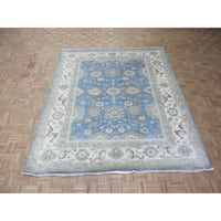 """Hand Knotted Light Blue Oushak with Wool Oriental Rug (8'4"""" x 10'1"""")"""