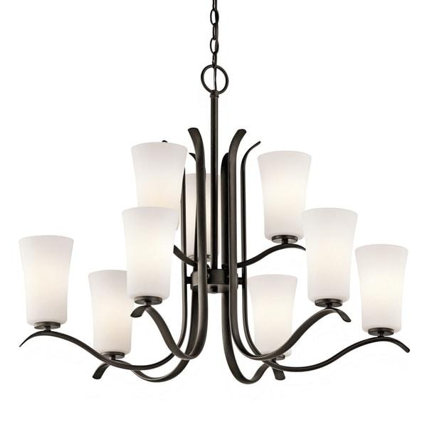 Kichler Lighting Armida Collection 9-light Olde Bronze LED Chandelier - Olde Bronze