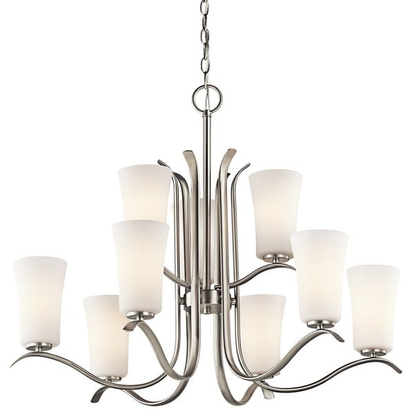 Kichler Lighting Armida Collection 9-light Brushed Nickel LED Chandelier - Brushed nickel