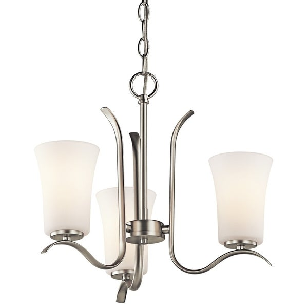 Kichler Lighting Armida Collection 3-light Brushed Nickel LED Mini Chandelier - Brushed nickel