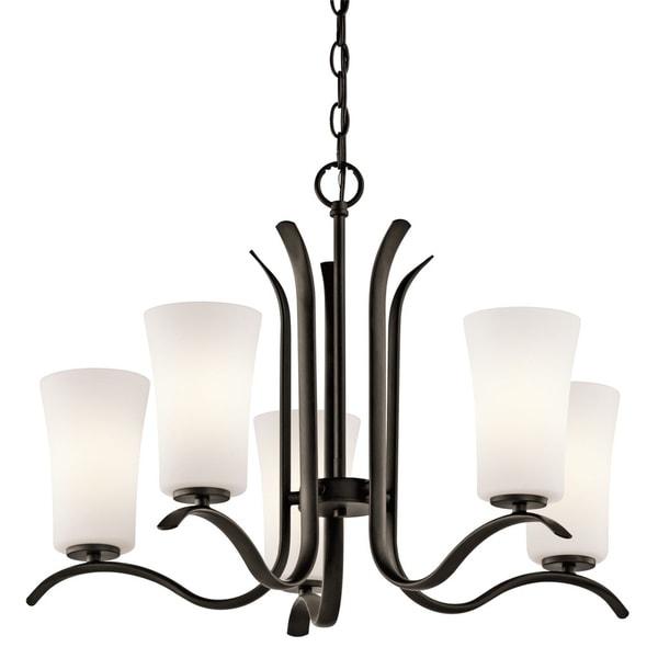 Kichler Lighting Armida Collection 5-light Olde Bronze LED Chandelier - Olde Bronze