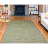 Hand-Woven Raphael Sage Blended New Zealand Wool and Art Silk Rug - 3' x 5'
