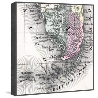 Marmont Hill - Handmade Strait of Florida Floater Framed Print on Canvas