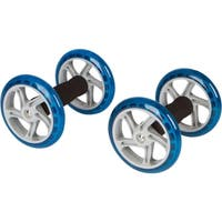 """6"""" Diameter Core Abdominal Exercise Roller Wheels by Trademark Innovations (1 Pair)"""