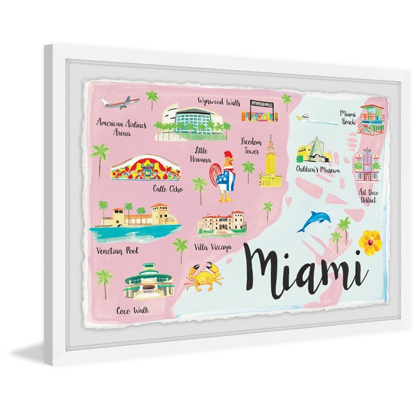 'Miami 4' Framed Painting Print
