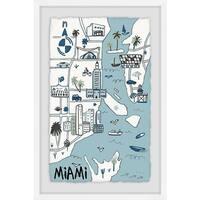 'Miami Landmarks' Framed Painting Print