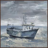 'Dark Clouds' Floater Framed Painting Print on Canvas