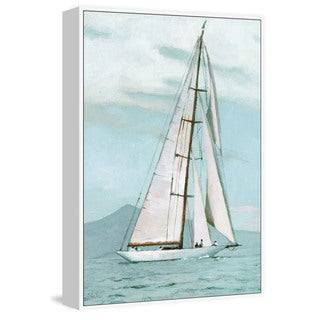 'Peaceful Sea' Floater Framed Painting Print on Canvas