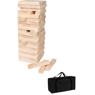 60 Piece Giant Wooden Stacking Puzzle Game with Carry Case