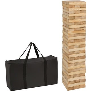 Link to 90 Piece 3' Tall Giant Wooden Stacking Puzzle Game with Carry Case Similar Items in Outdoor Play