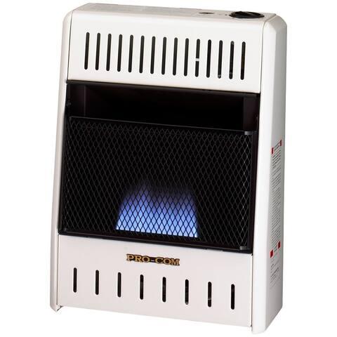 Procom Ventless Natural Gas Blue Flame Space Heater - 10,000 BTU, Manual Control